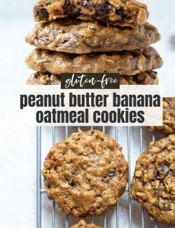 Peanut butter banana cookies short collage pin