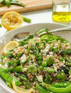 Farro salad recipe long pin