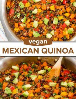 Vegan Mexican quinoa recipe