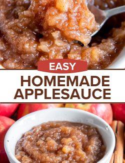 Easy applesauce recipe long pin