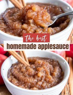 Homemade applesauce short collage pin