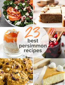 Persimmon recipes long collage pin